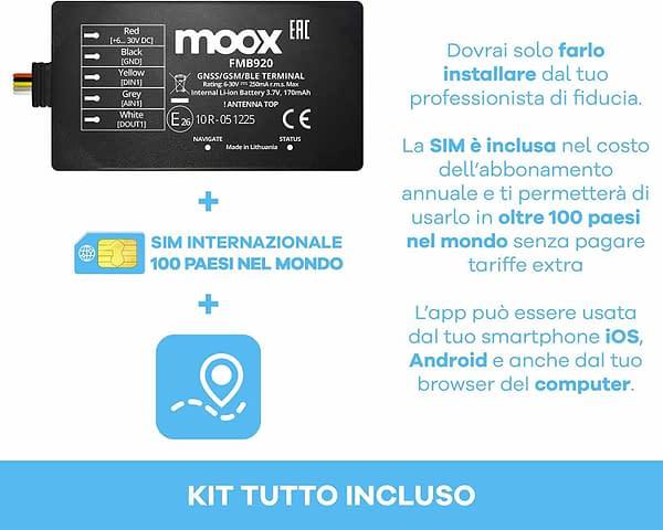 Il kit include il dispositivo, la sim e l'abbonamento per 12 mesi