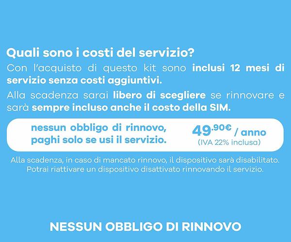 Quali sono i costi del servizio?